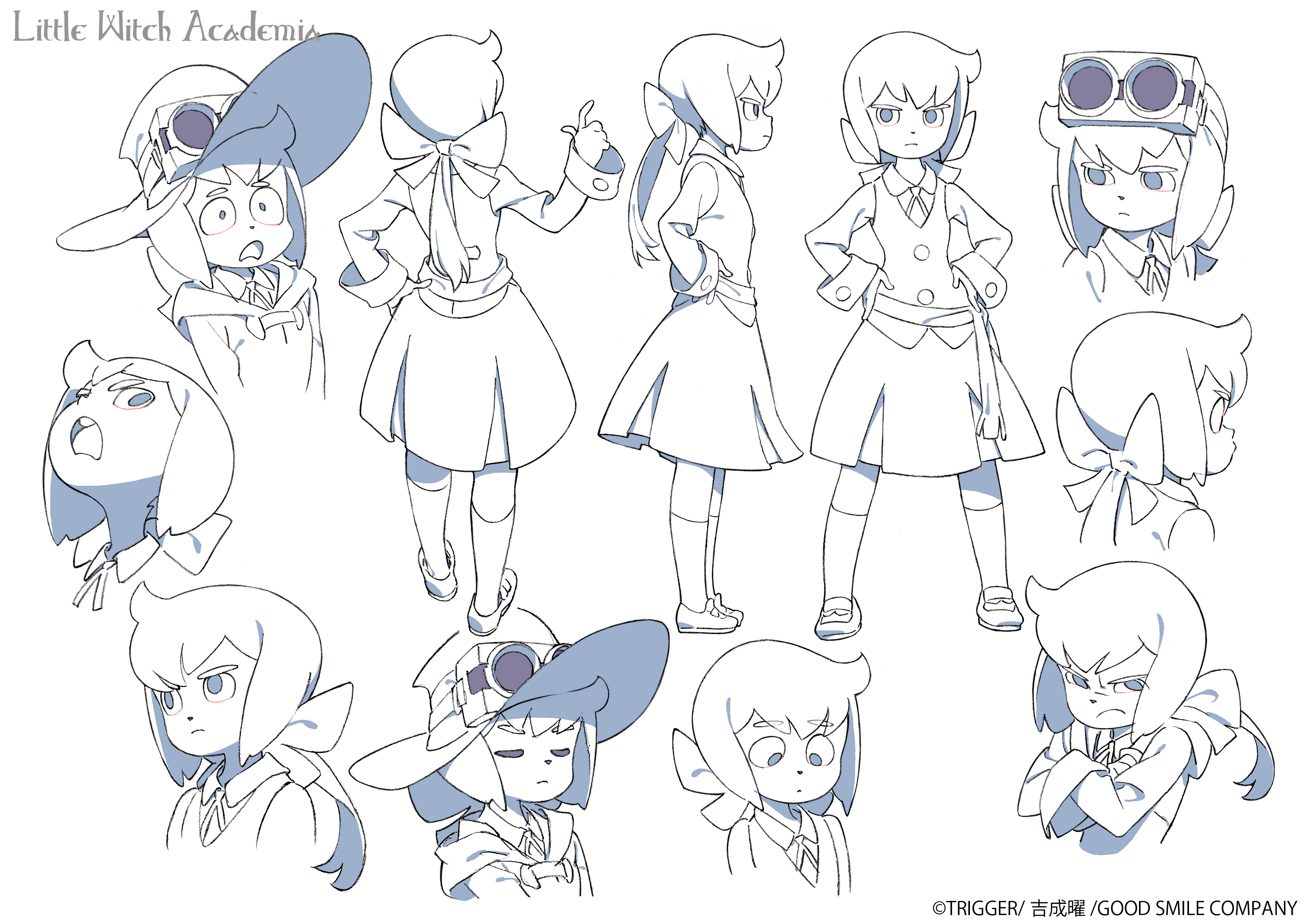 Top 10 Character Design Books : Images about little witch academia リトルウィッチアカデミア on